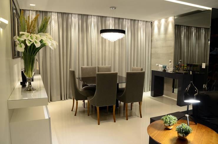 غرفة السفرة تنفيذ Giovana Martins Arquitetura & Interiores