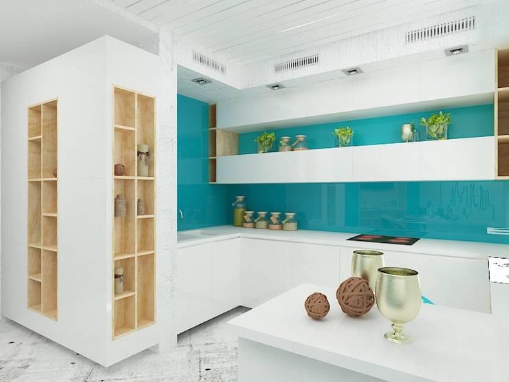 Уютный намек на лофт: Кухни в . Автор – Дизайн студия Марины Геба