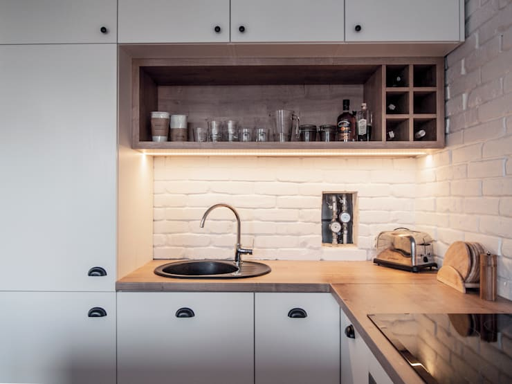 Jasno & eklektycznie: styl , w kategorii Kuchnia zaprojektowany przez Zolnik Pracownia