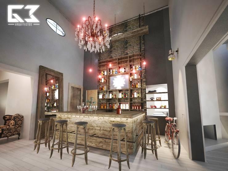 Remodelación Restaurante: Bares y discotecas de estilo  por G3 Arquitectos