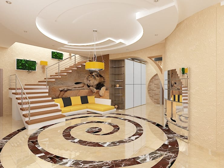 Гостиная в . Автор – Дизайн студия Марины Геба