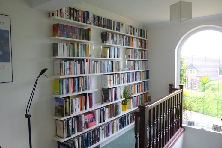 shelfbar floating shelves - bespoke corner bookcase:  Household by shelfbar