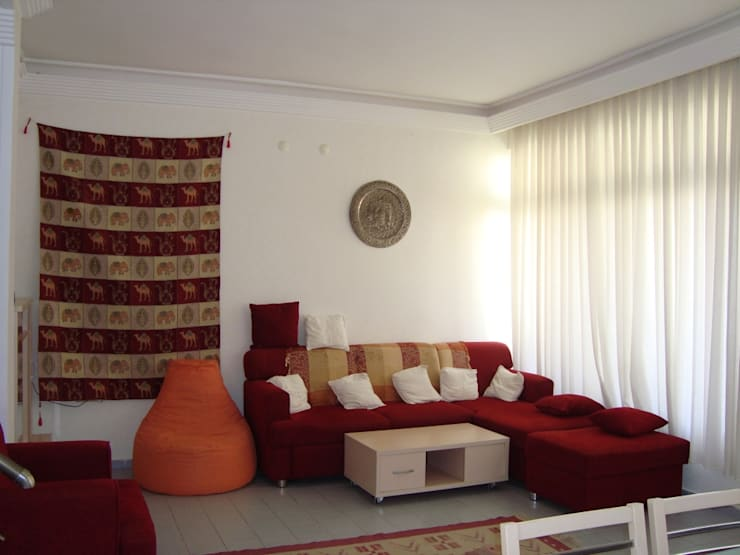 Salas / recibidores de estilo  por Alanya Sunlife Real Estate & Constructions
