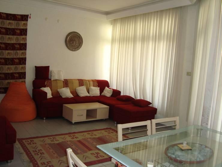 Alanya Sunlife Real Estate & Constructions – Alanya Sun Life:  tarz Oturma Odası, Akdeniz