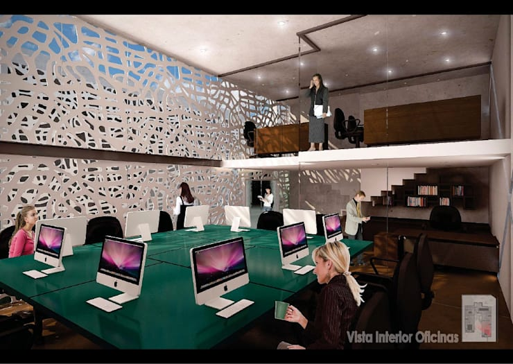 Sala multimediale moderna di Arq Mobil Moderno
