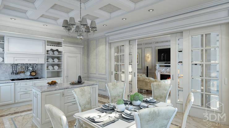 Проект 031: интерьер частного дома: Столовые комнаты в . Автор – студия визуализации и дизайна интерьера '3dm2'