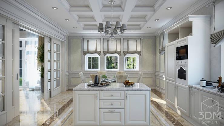 Проект 031: интерьер частного дома: Кухни в . Автор – студия визуализации и дизайна интерьера '3dm2'
