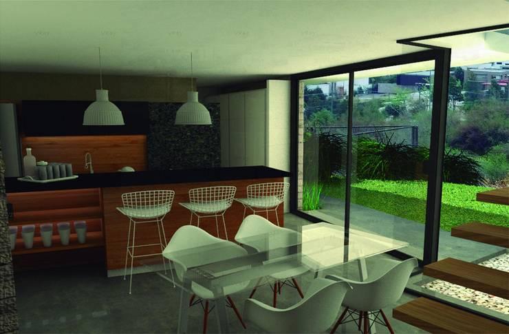Casa Mirador en Chile: Comedores de estilo moderno por GANDIA ARQUITECTOS
