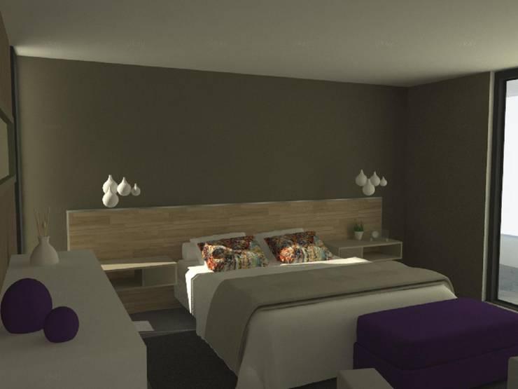 Casa Mirador en Chile: Dormitorios de estilo  por GANDIA ARQUITECTOS