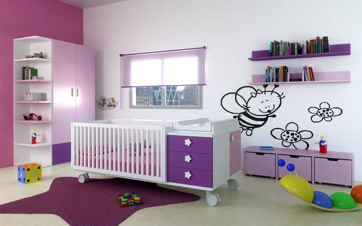 JUVENILES: Habitaciones infantiles de estilo  de MUEBLES OYAGA