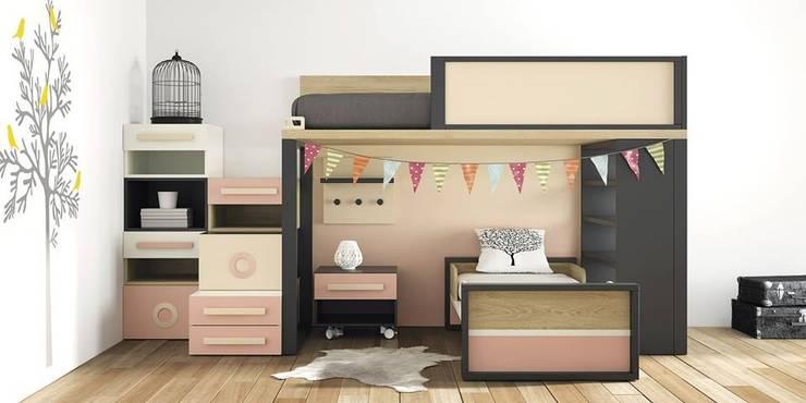 Habitaciones infantiles de estilo  por MUEBLES OYAGA