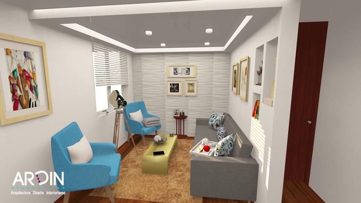 SAN FRANCISCO Salones modernos de ARDIN INTERIORISMO Moderno