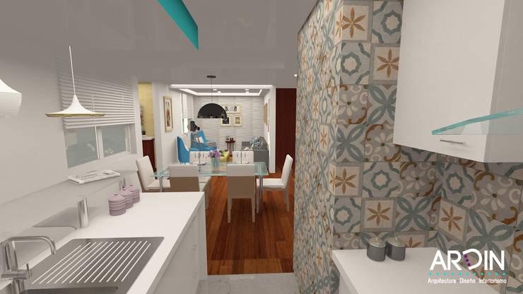 SAN FRANCISCO: Cocinas de estilo  por ARDIN INTERIORISMO