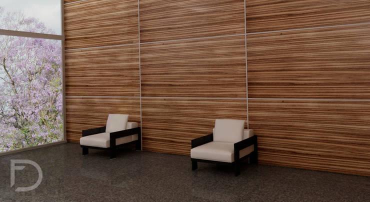 Recepción oficinas.: Oficinas y tiendas de estilo  por ESTUDIO FD