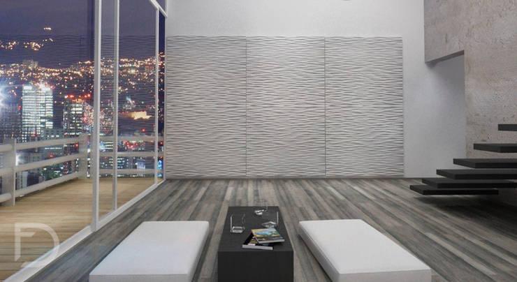 Lobby despacho de arquitectura.: Oficinas y tiendas de estilo  por ESTUDIO FD