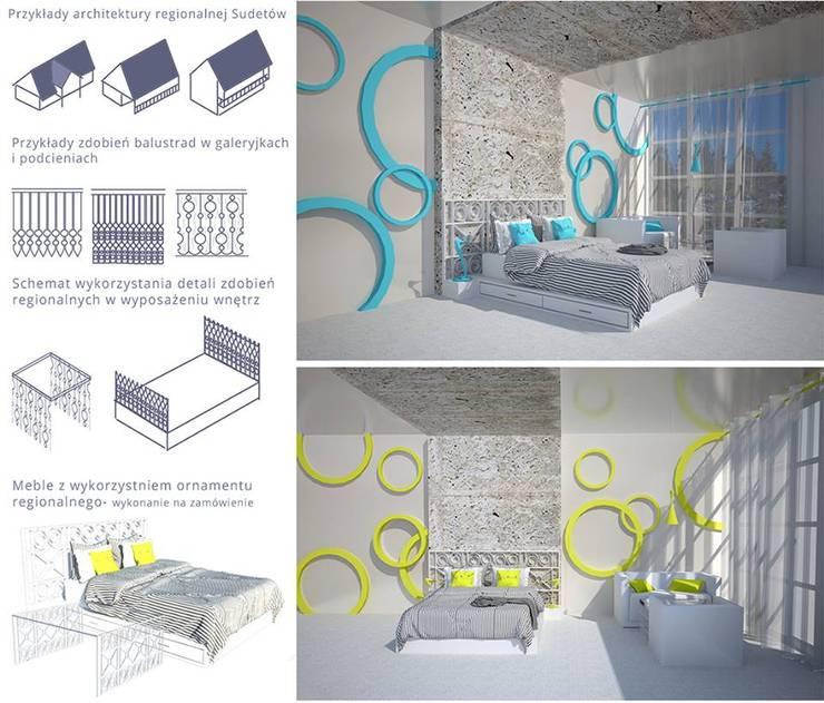 pokój hotelowy: styl , w kategorii Hotele zaprojektowany przez kreARTywni_ studio projektowe