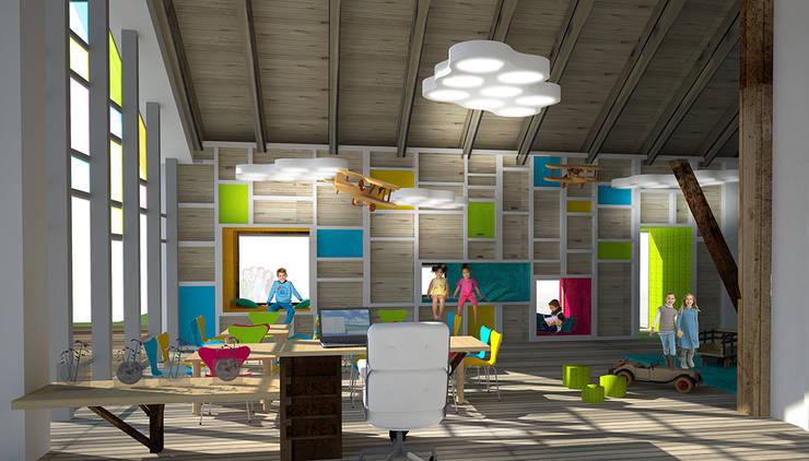 Wnętrze przedszkola: styl , w kategorii Szkoły zaprojektowany przez kreARTywni_ studio projektowe,Nowoczesny Drewno O efekcie drewna