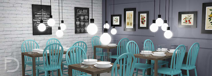 Restaurantes de estilo  por ESTUDIO FD