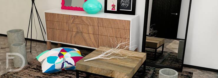 Decoración living.: Salas de estilo  por ESTUDIO FD