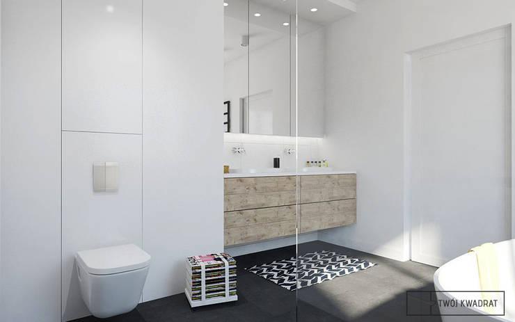 Mieszkanie Warszawa Wesoła: styl , w kategorii Łazienka zaprojektowany przez Twój Kwadrat