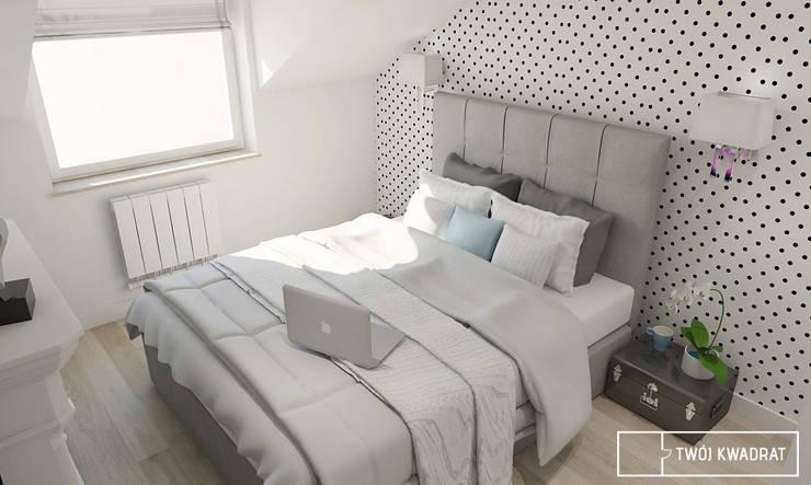 Dormitorios de estilo moderno de Twój Kwadrat