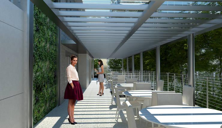 Varanda: Terraços  por Paula Werneck Arquitetura,Moderno