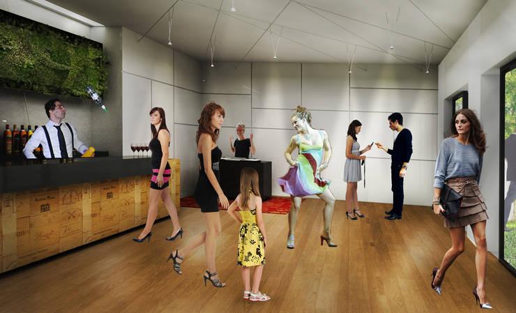 Salão de dança: Salas de estar  por Paula Werneck Arquitetura