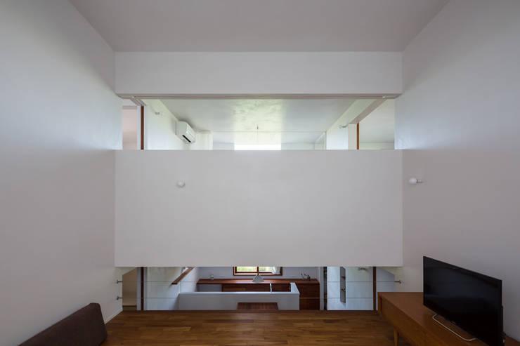蔵前の家: 吉田夏雄建築設計事務所が手掛けたリビングです。