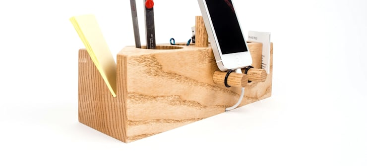 핸드폰거치대 연필꽂이 Grande (Desk Organizer Grande): Orange Wood의