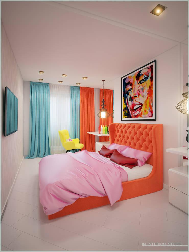 Апартаменты в стиле Поп-Арт: Спальни в . Автор – ООО 'ИНТЕРИОР'