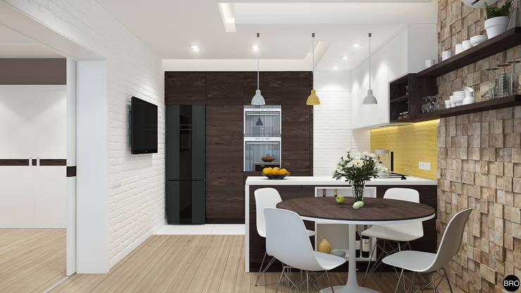 Кухни в . Автор – BRO Design Studio,