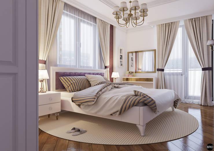 """1-к квартира в ЖК """"Park Avenue"""": Спальни в . Автор – BRO Design Studio"""