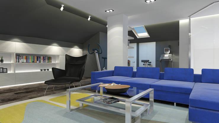 гостиная: Гостиная в . Автор – Архитектурная мастерская 'SOWA'