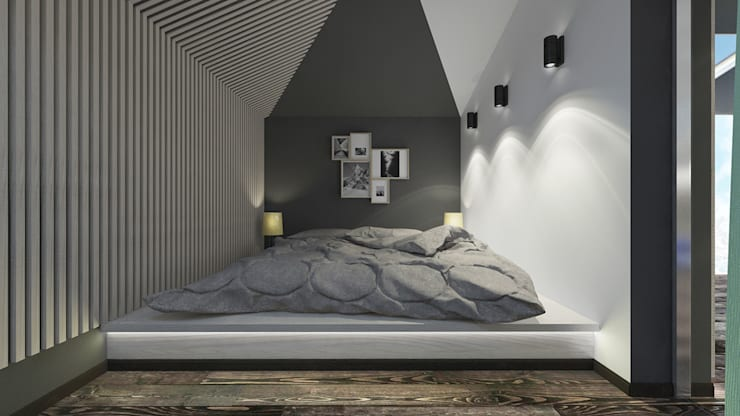 Quartos  por Архитектурная мастерская 'SOWA'