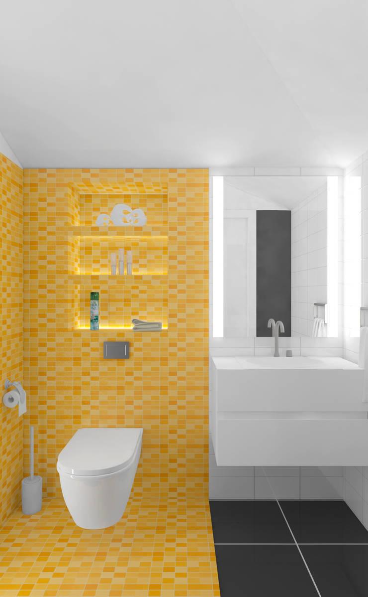 санузел: Ванные комнаты в . Автор – Архитектурная мастерская 'SOWA'