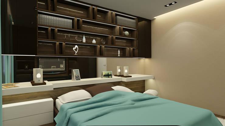 спальня: Спальни в . Автор – Архитектурная мастерская 'SOWA',
