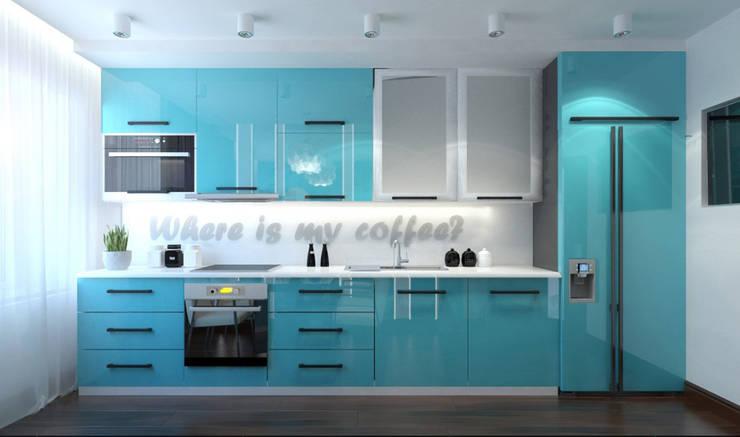 Cocinas de estilo  por Архитектурная мастерская 'SOWA'