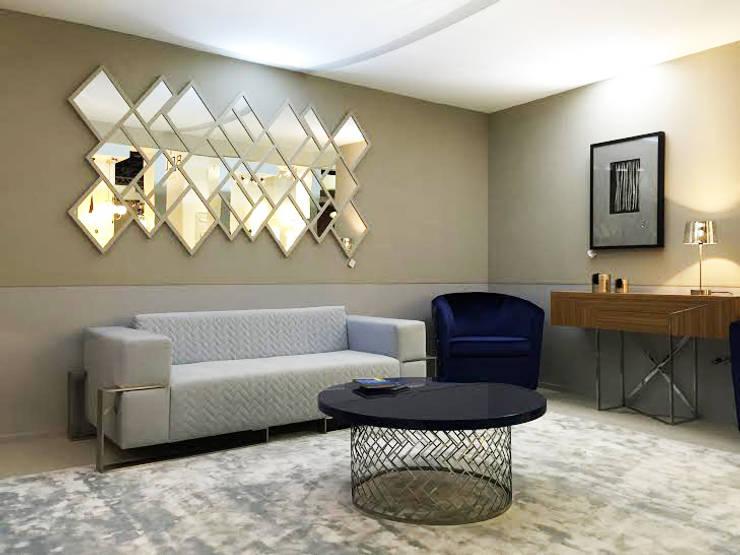 Sala estar MO'15: Locais de eventos  por Boutique Interiores