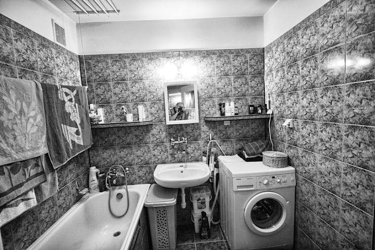 łazienka z kotem: styl , w kategorii  zaprojektowany przez Zbigniew Winiarczyk
