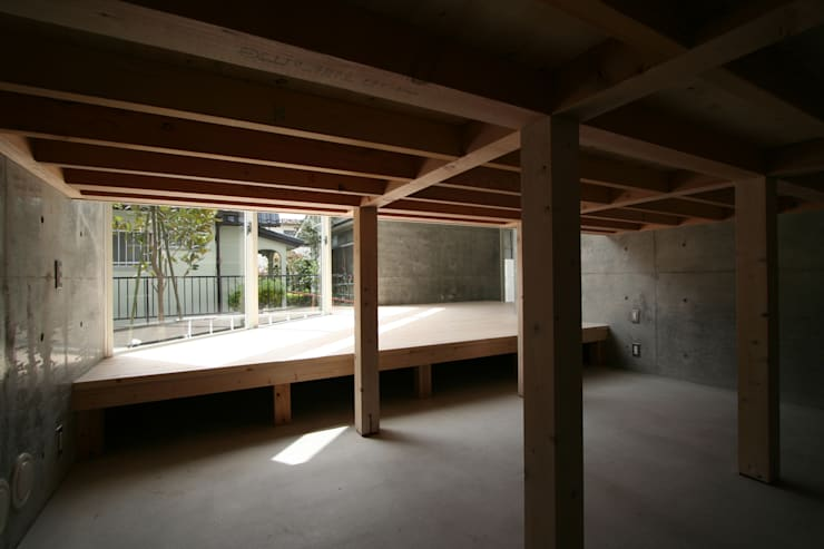 立体一室住居: STUDIO POHが手掛けた和室です。