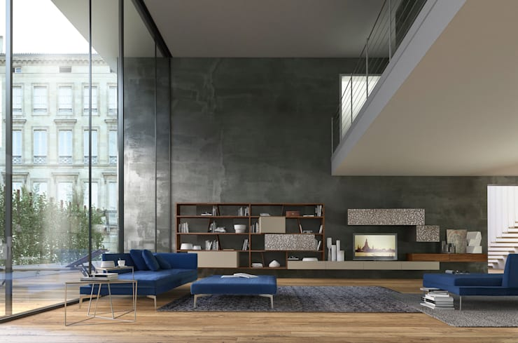 Salas de estilo  por Presotto Industrie Mobili spa