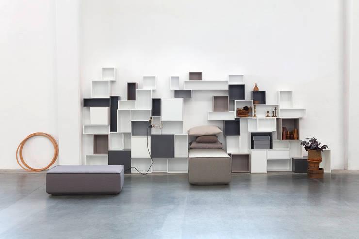 Regal: ausgefallene Wohnzimmer von Cubit- Bits For Living
