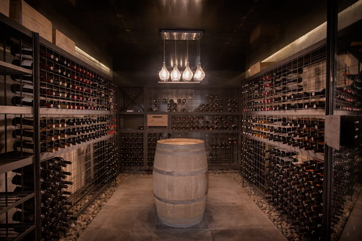 Casa Evans Bodegas de vino modernas: Ideas, imágenes y decoración de A4estudio Moderno