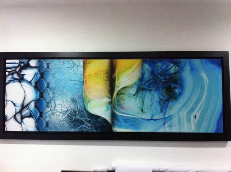 Abstracto Azul: Casas de estilo  por 11:11 Arte Contemporaneo