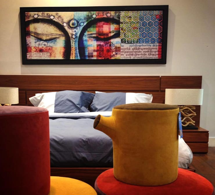 HOSTAL_15: Recámaras de estilo  por 11:11 Arte Contemporaneo