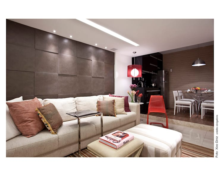 ห้องนั่งเล่น โดย Wesley Lemos Arquitetura & Design,