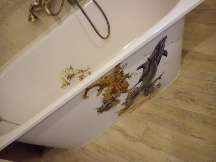 роспись ванны: Ванные комнаты в . Автор – Абрикос , Классический