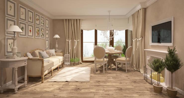 Prowansalskie klimaty: styl , w kategorii Salon zaprojektowany przez FAMM DESIGN