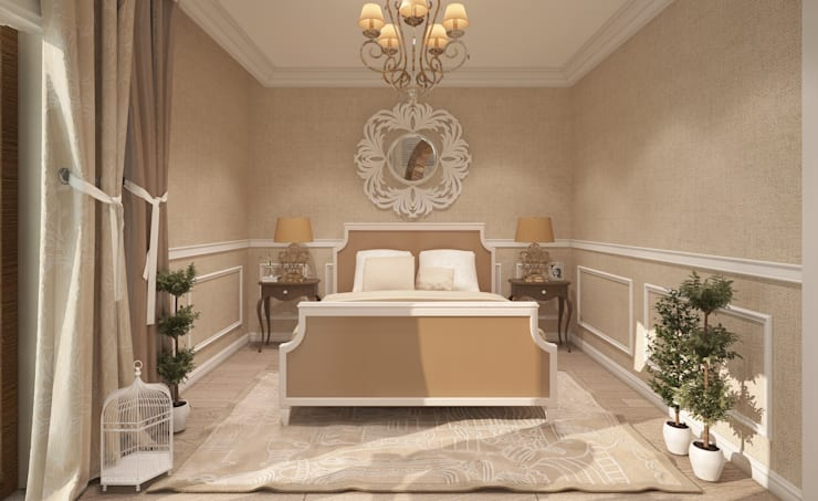 Prowansalskie klimaty: styl , w kategorii Sypialnia zaprojektowany przez FAMM DESIGN