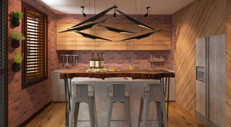 Кухни в . Автор – FAMM DESIGN
